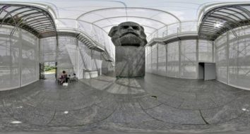 Karl Marx Monument 360°Panorama Rundumblick