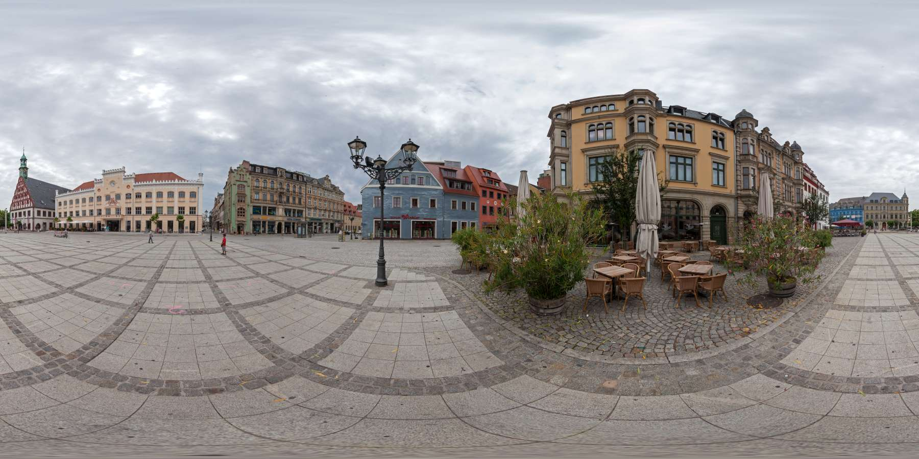 Panorama Stadt Zwickau Blick auf das Rathaus