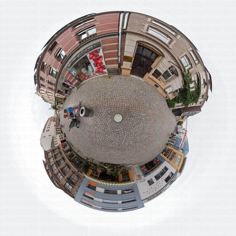 Panorama Stadt Zwickau Einkaufsstarsse