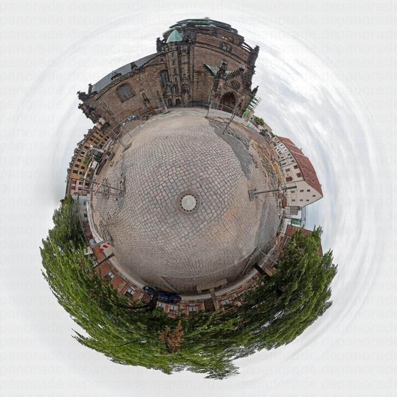 Panorama Stadt Zwickau Kirche