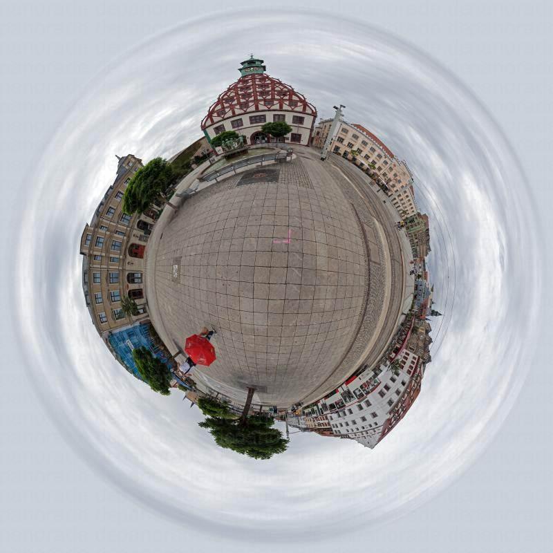 Panorama Stadt Zwickau Markt