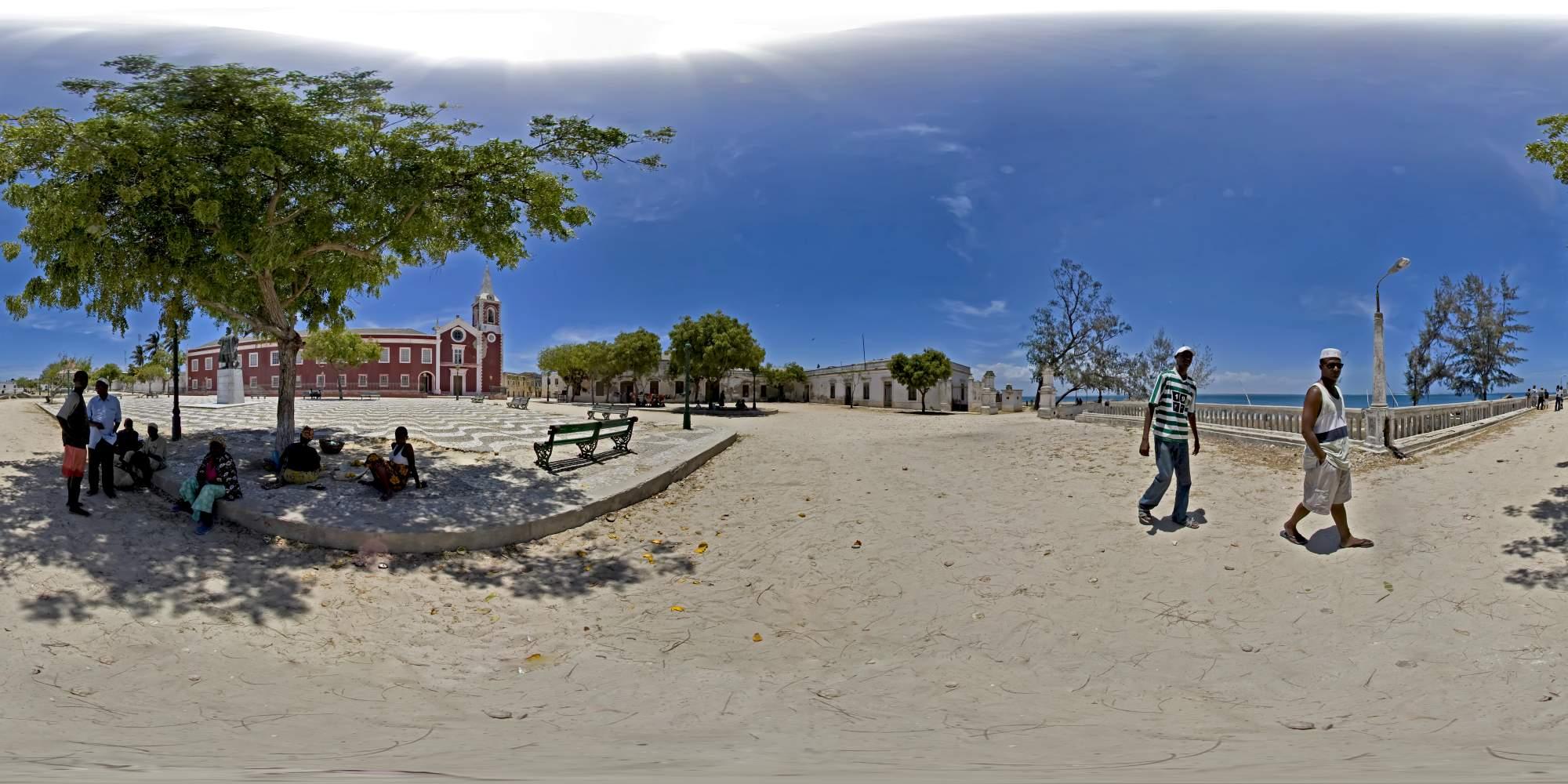 Mosambike Reise Insel Ilha De Mozambique Panorade De