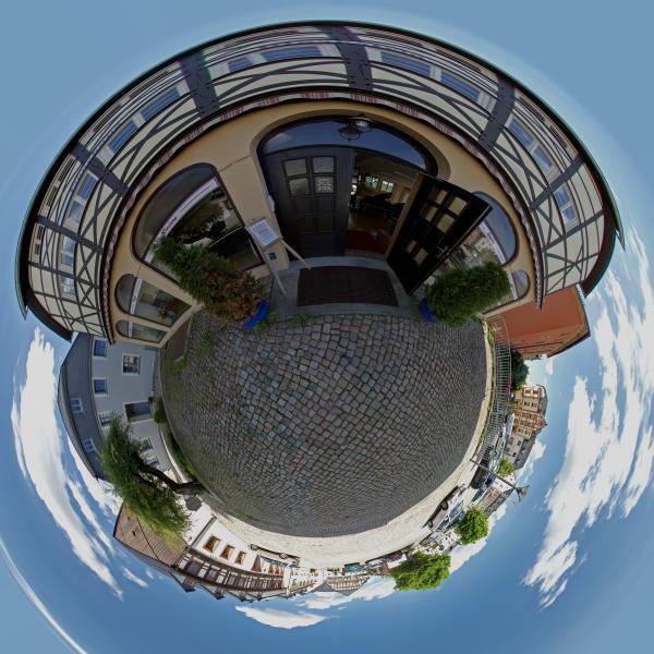 Panoramen Musikhaus Markstein Pianohaus Eingang