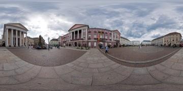 Panorama-Karlsruhe-Innenstadt-Marktplatz