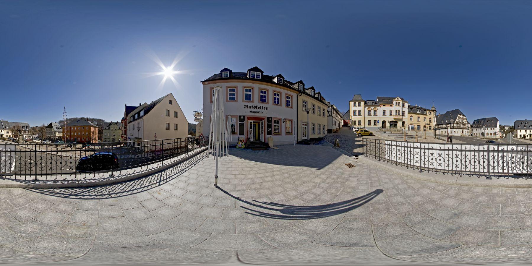 Panorama Hartenstein Markt in Sachsen 2