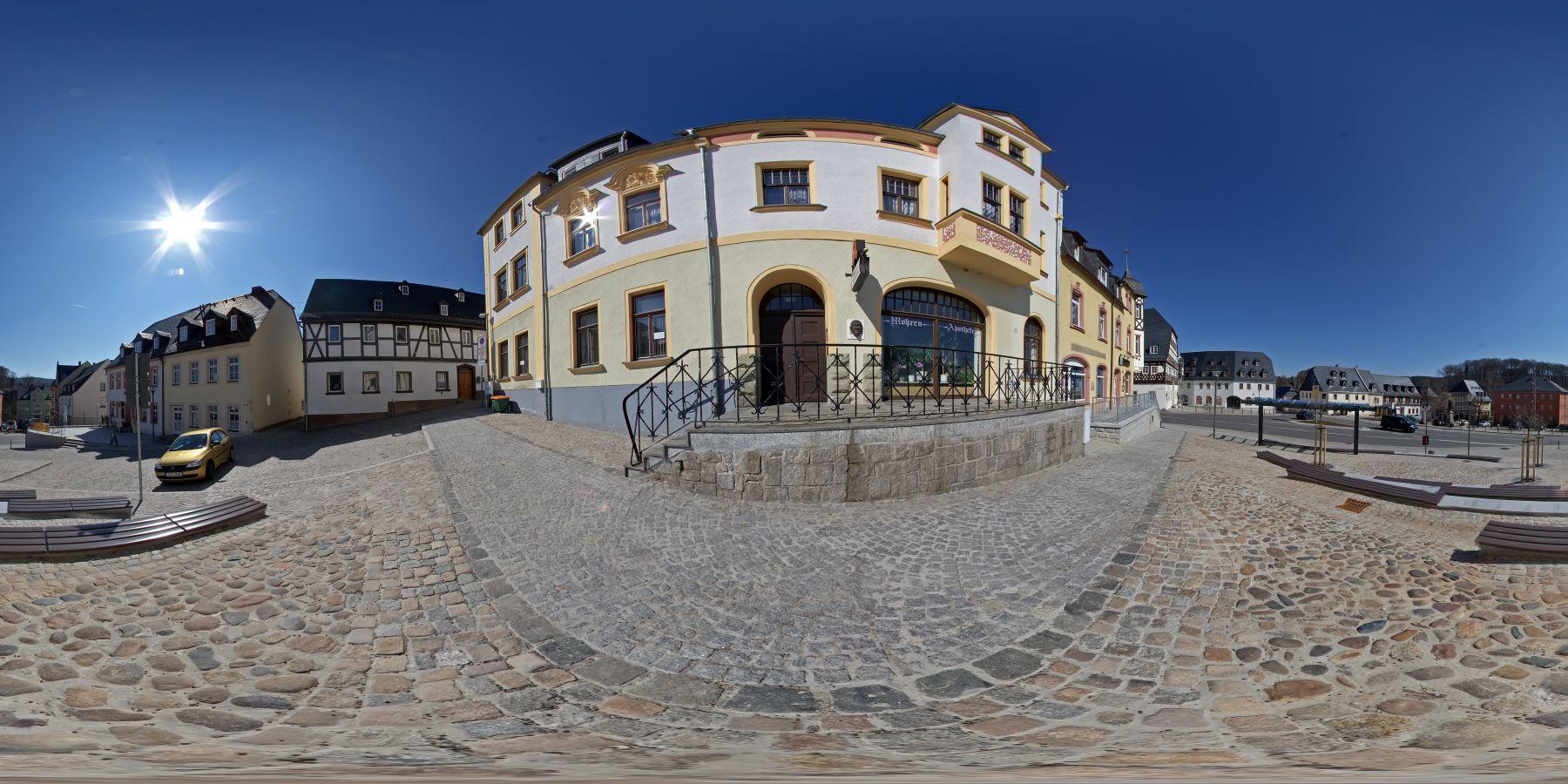 Panorama Hartenstein Markt in Sachsen 3