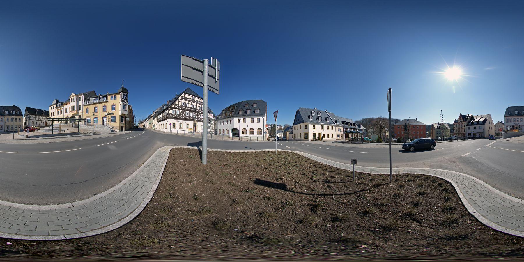 Panorama Hartenstein Markt in Sachsen 4