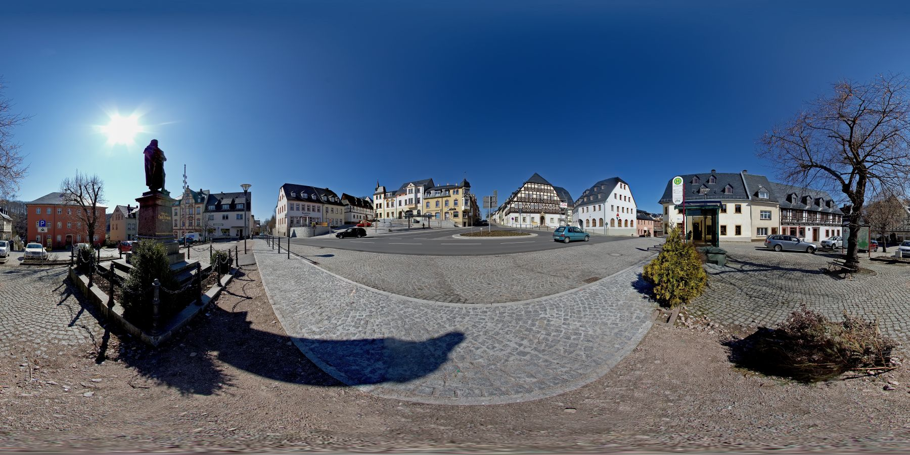 Panorama Hartenstein Markt in Sachsen 6