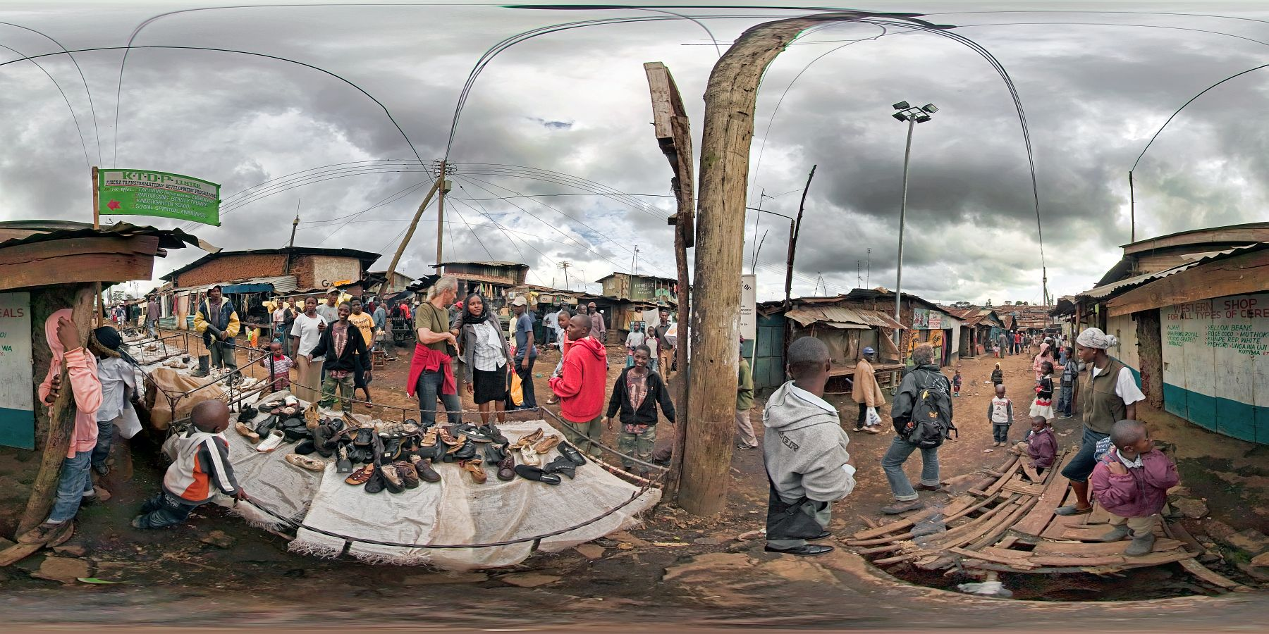 Panorama Kenia Nairobi Kibera Slum