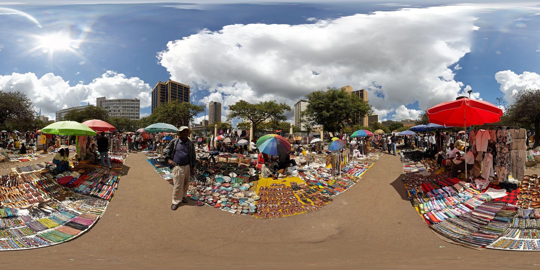Panorama Kenia Nairobi Markt 1