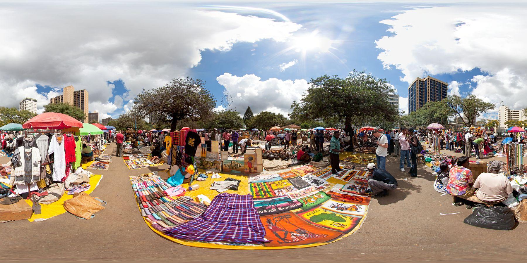Panorama Kenia Nairobi Markt 2