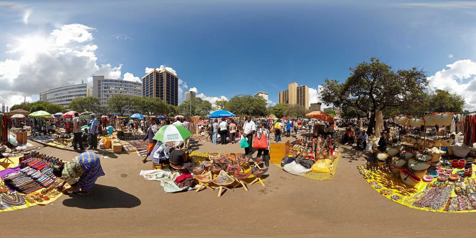 Panorama Kenia Nairobi Markt 3