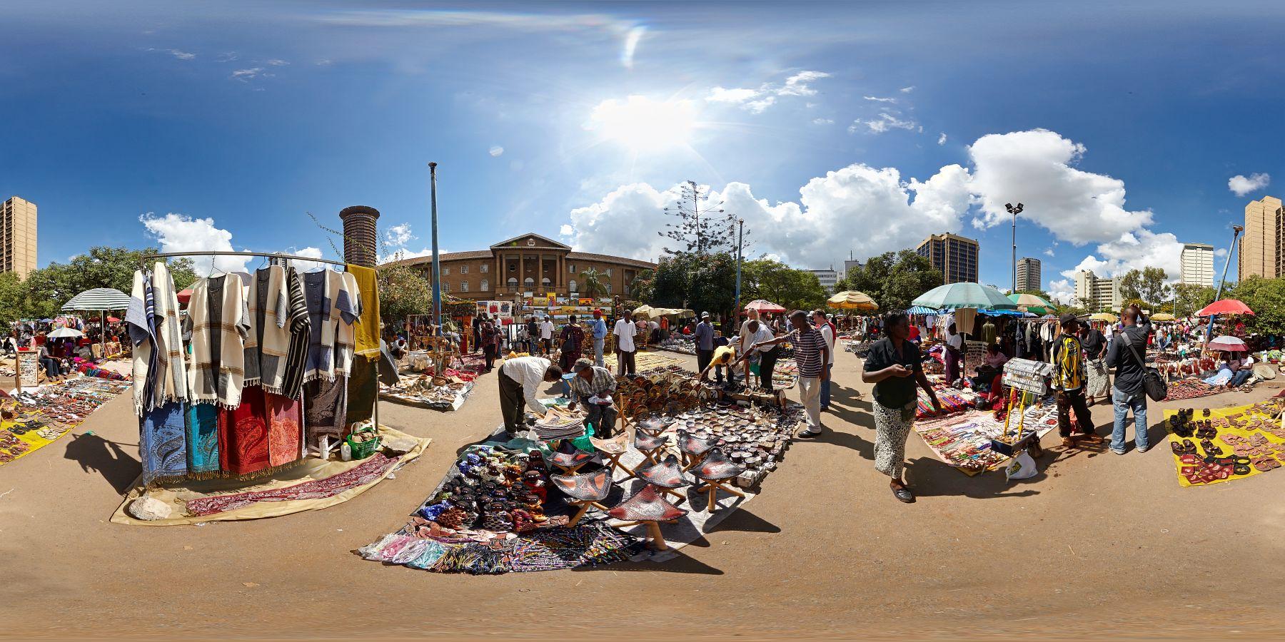 Panorama Kenia Nairobi Markt 4