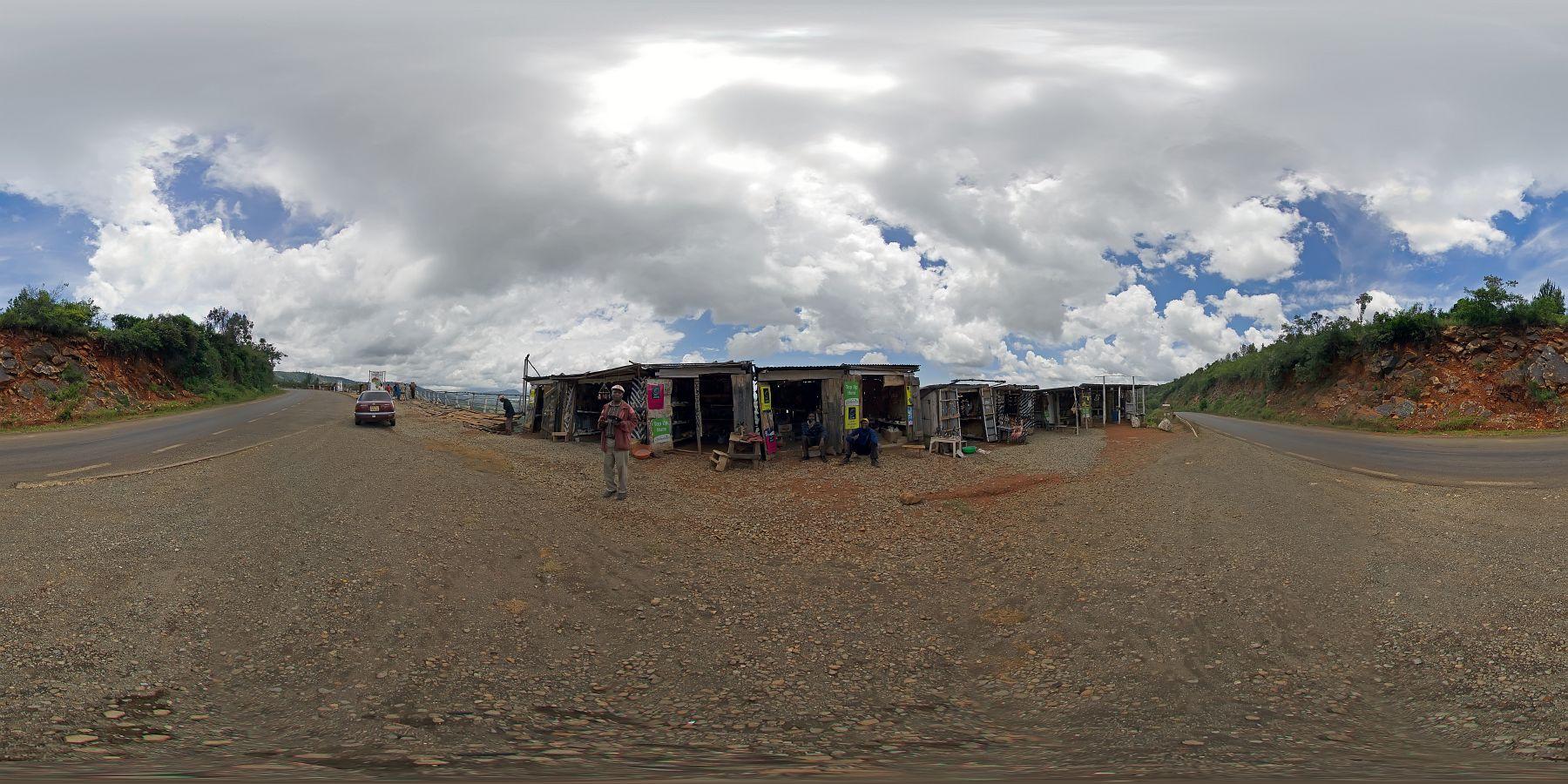 Panorama Kenia Nakuru Ausblick Ebene 1