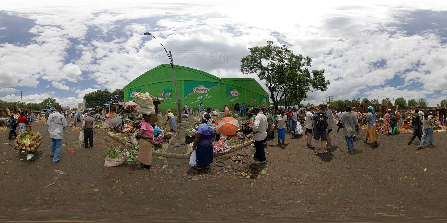 Panorama Kenia Nakuru Markt 1
