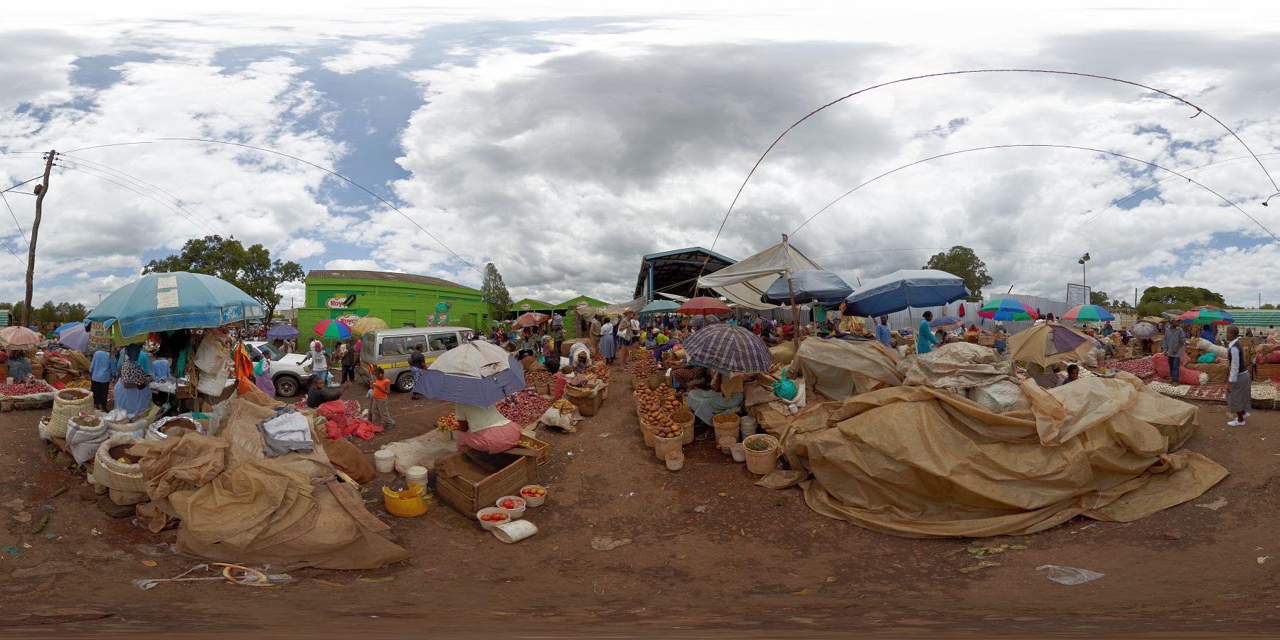 Panorama Kenia Nakuru Markt 2