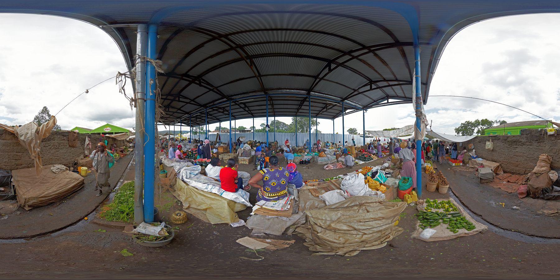 Panorama Kenia Nakuru Markt 3