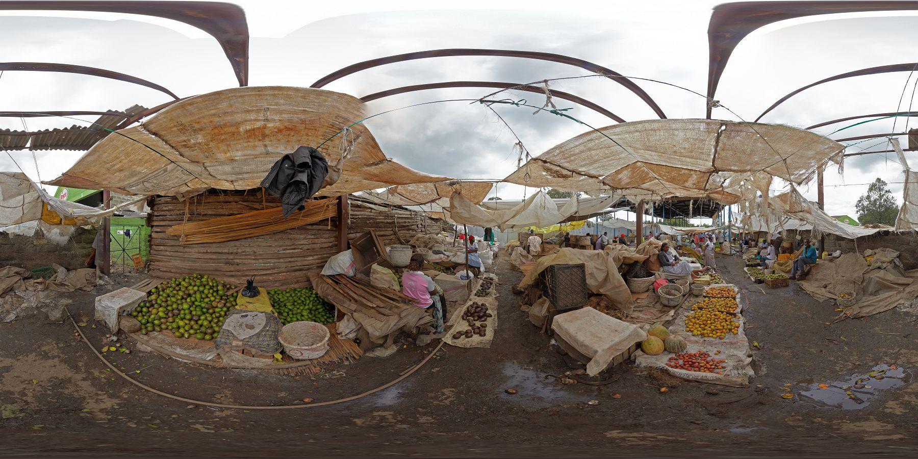 Panorama Kenia Nakuru Markt 6