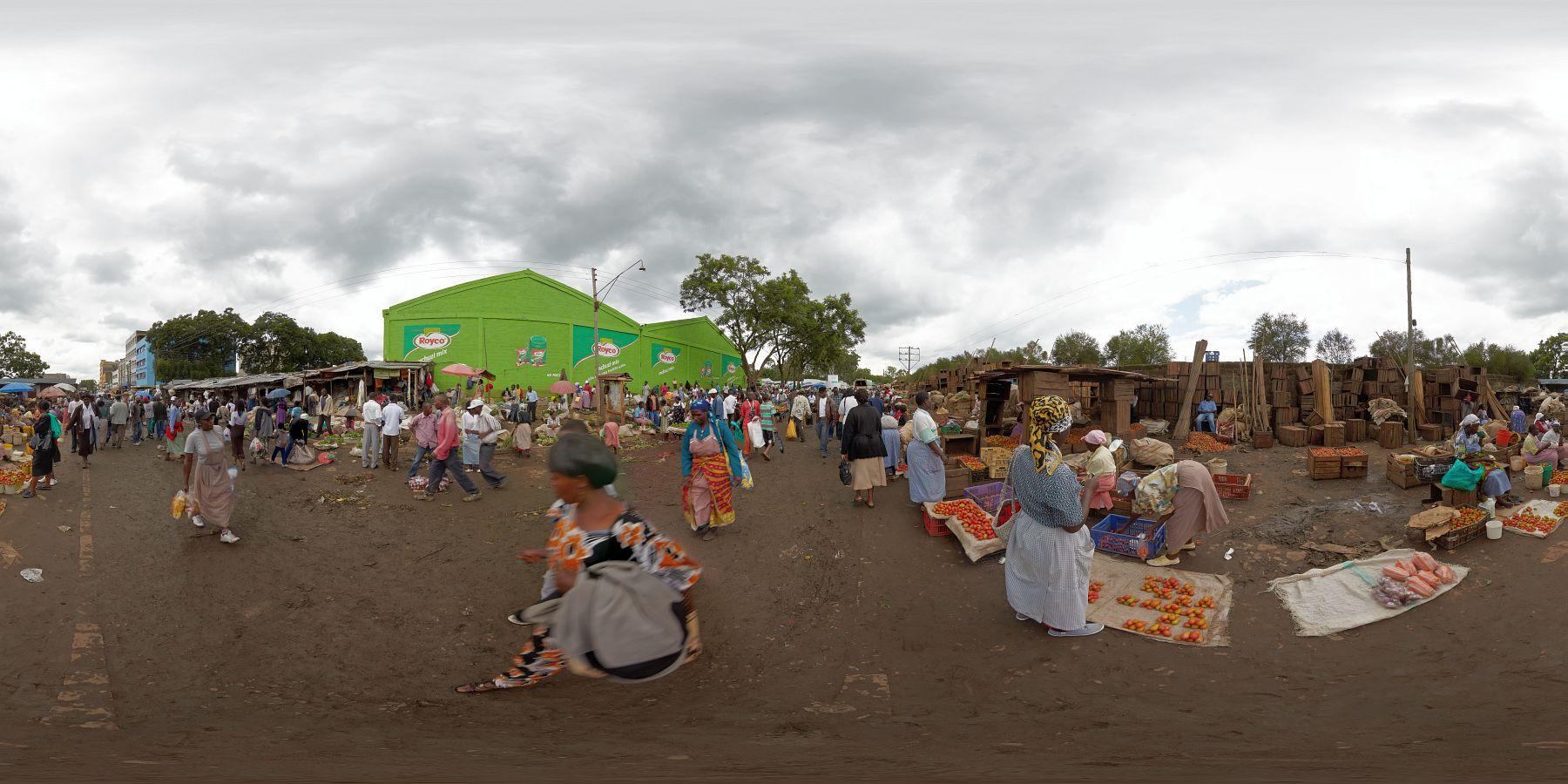 Panorama Kenia Nakuru Markt 8
