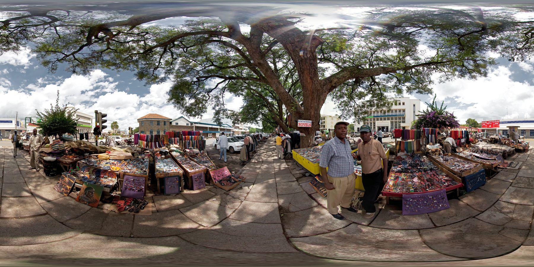 Panorama Kenia Nakuru Schitzermarkt 1