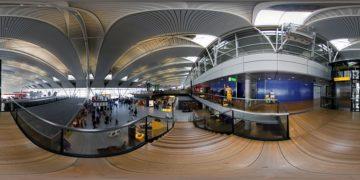 Panorama Niederlande Amsterdam Flughafen 1 - Panoramen Übersicht